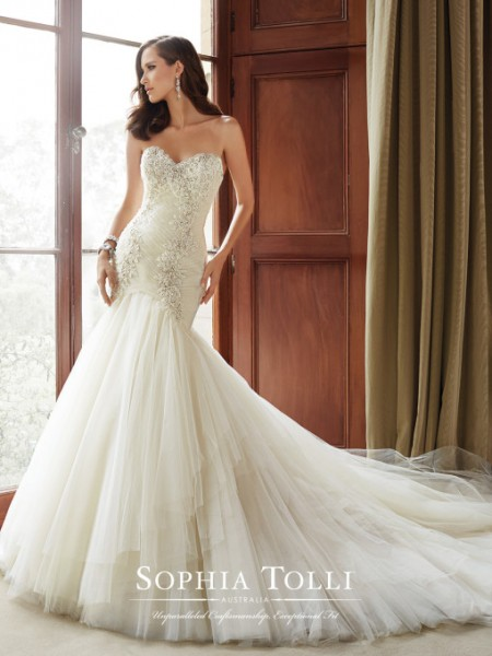 Picture of Y21514 Cory Wedding Dress - Sophia Tolli Fall 2015 Bridal Collection