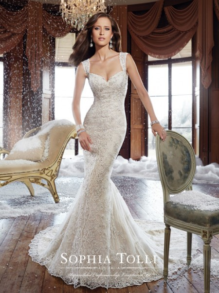 Picture of Y21515 Kyle Wedding Dress - Sophia Tolli Fall 2015 Bridal Collection