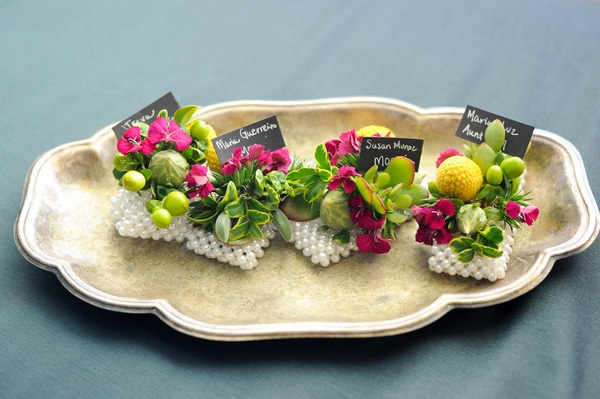 Brightly coloured corsages