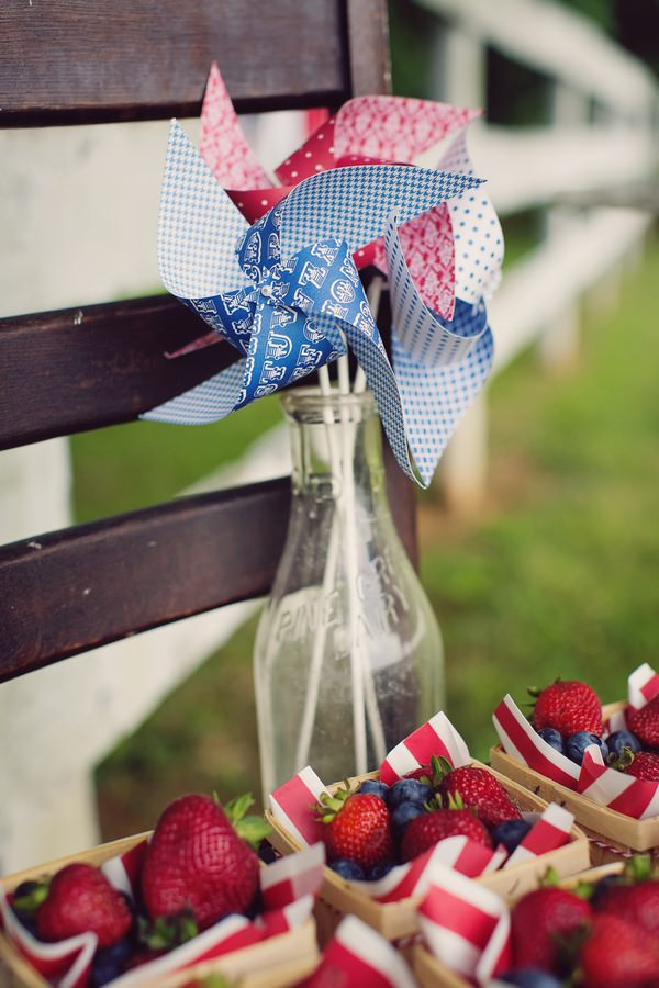 Vintage bottle with pinwheel