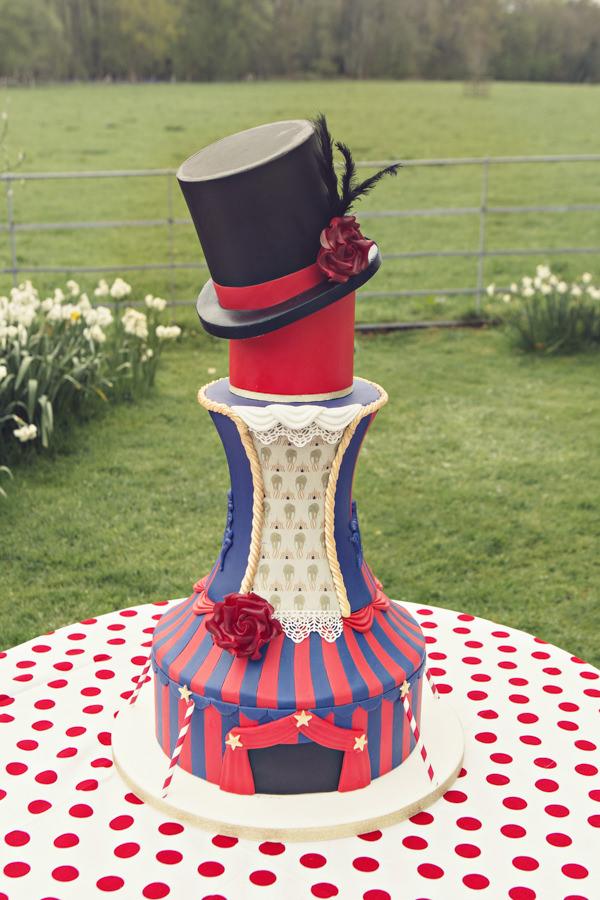 Carnival wedding cake