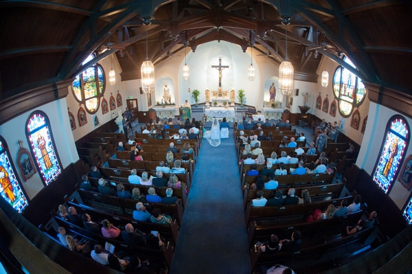 Wedding ceremony in St. Elizabeth Church, Sacramento