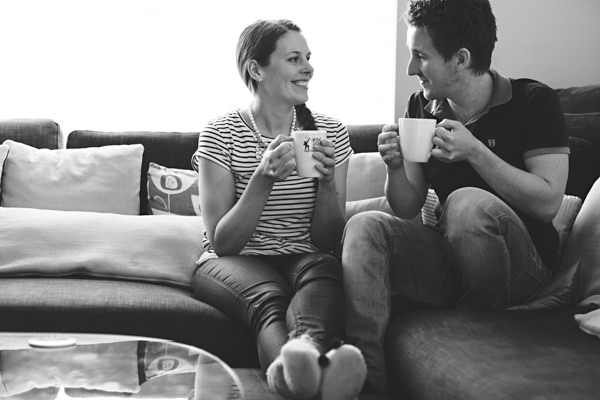 Couple having a cup of tea