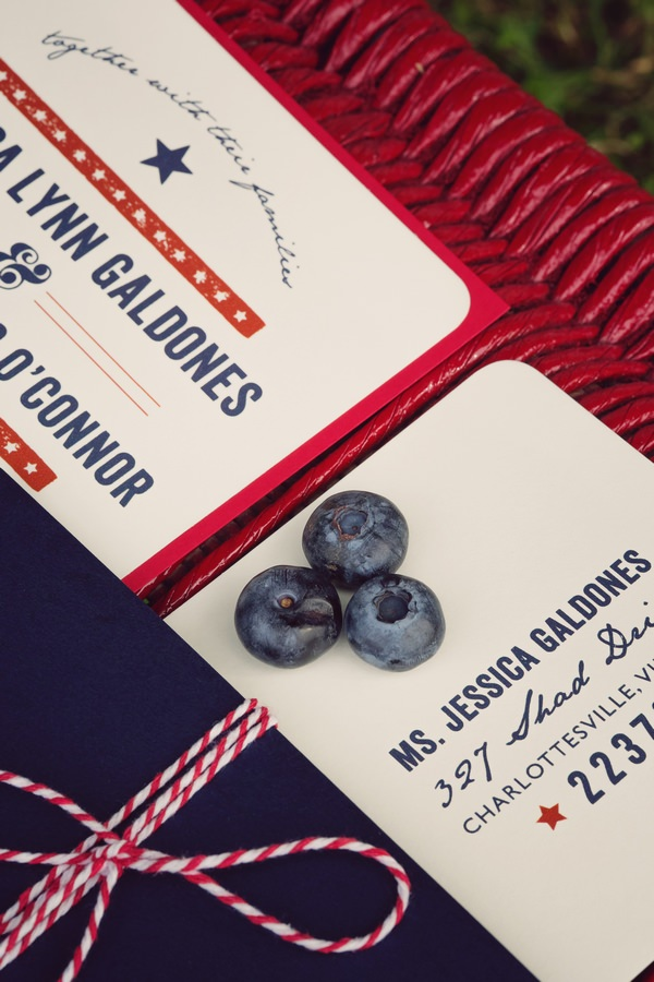 American style wedding stationery