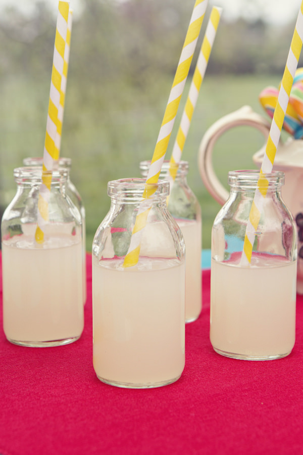 Vintage bottles of lemonade