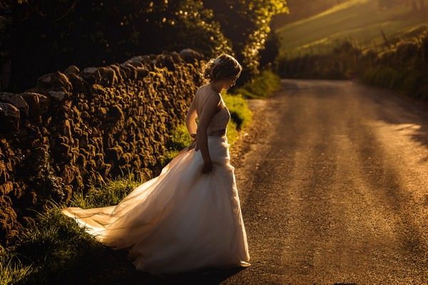 Bride standing in road - Picture by Andrew Keher Photography