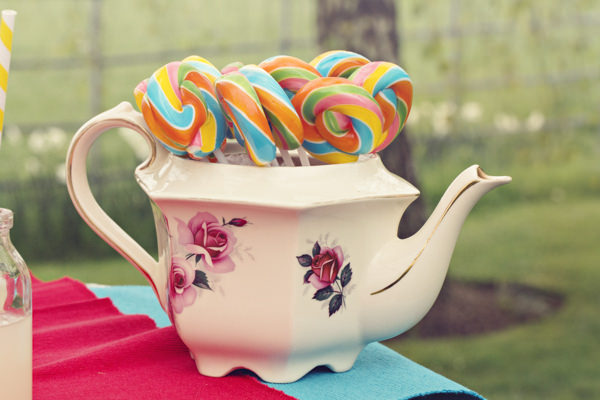 Teapot full of lollipops