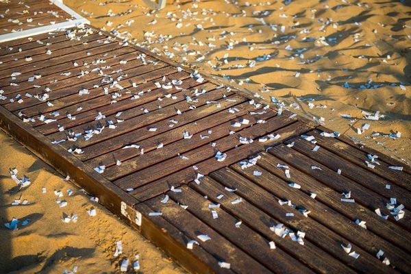 Confetti on beach