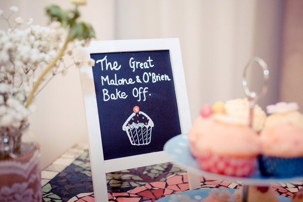 Bake Off chalkboard sign for wedding