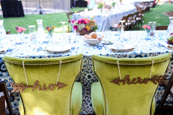 Hos and her's wedding chairs