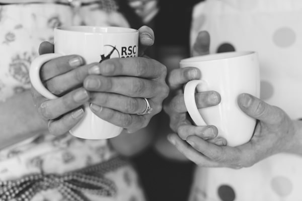 Holding mugs