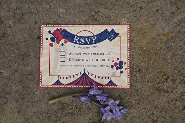 Carnival wedding RSVP