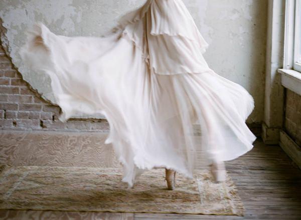 Ballerina bride dancing