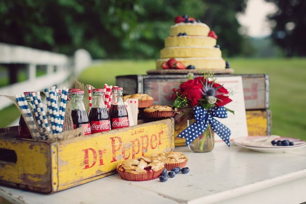 Rustic Americana items for wedding