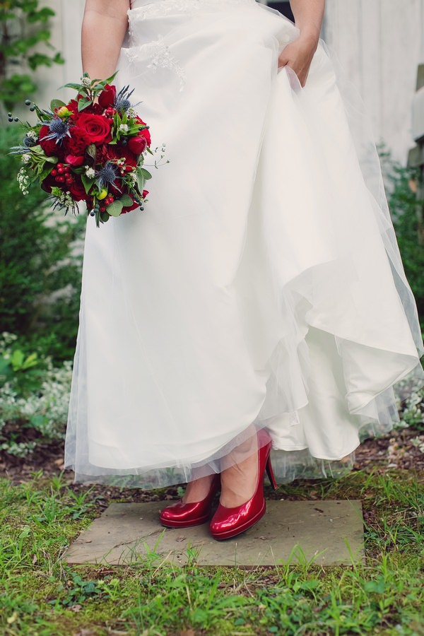 Bride's red shores