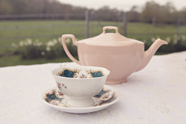 Vintage teacup and teapot