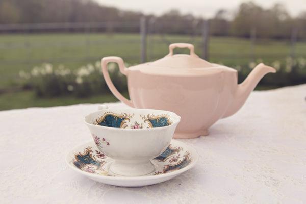 Vintage teacup and teapot