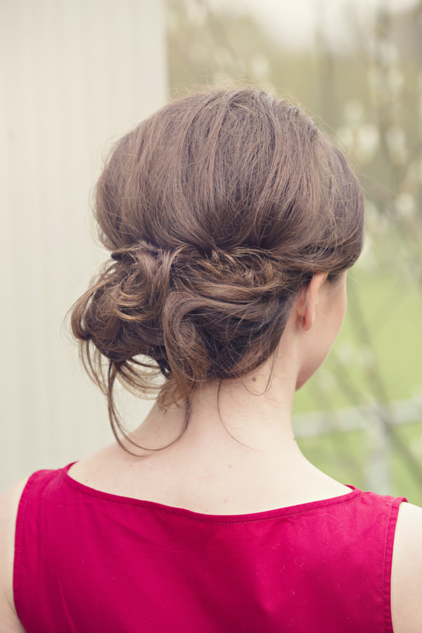 Back of bride's updo