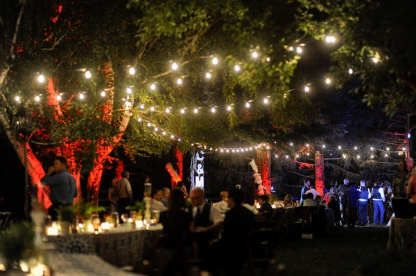 Wedding party at night