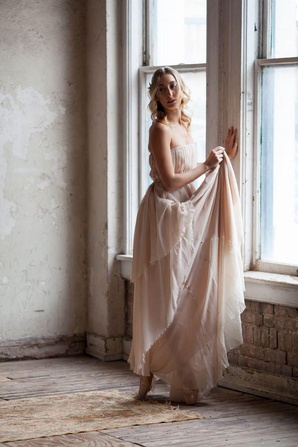 Ballerina bride at window