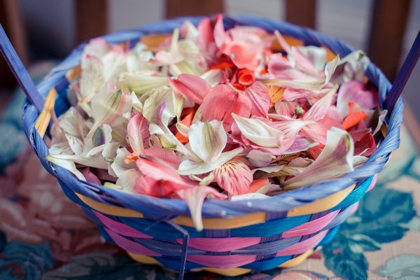 Basket of petal confetti