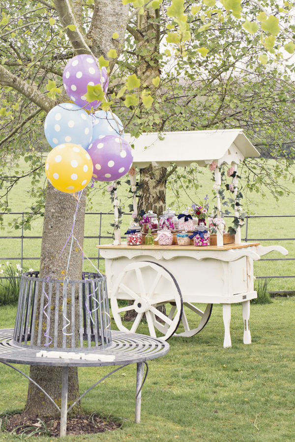 Carnival style sweet cart