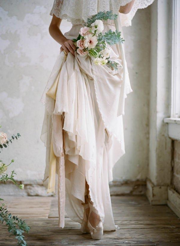 Ballerina bride's skirt