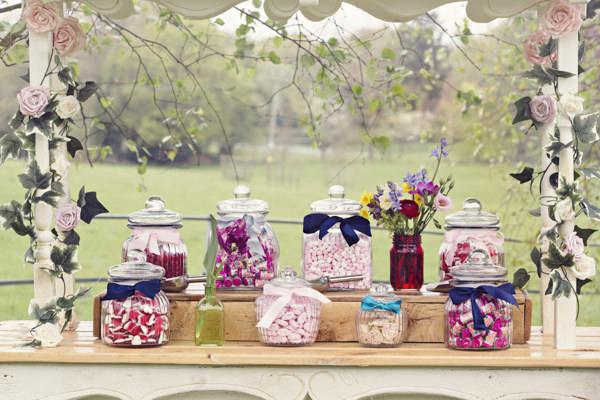 Jars of retro sweets