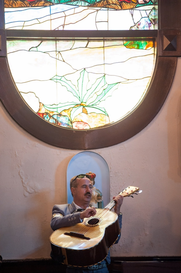 Guitarist in wedding ceremony