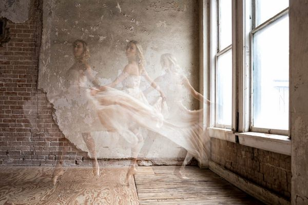Different stages of ballerina dancing