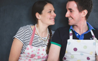 A Cake Making Engagement Shoot