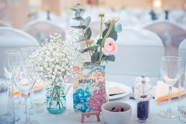 Munich wedding table name card