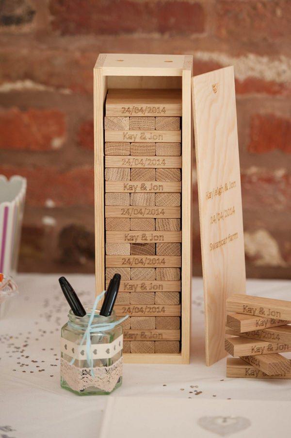Oak Block Alternative Wedding Guest Book From The Tree