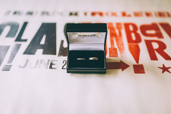 Wedding rings on Glastonbury poster