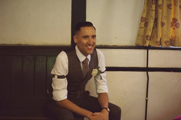 Groom in vintage clothing