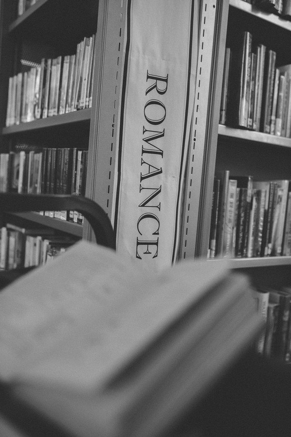 Romance section of Middlesbrough Reference Library