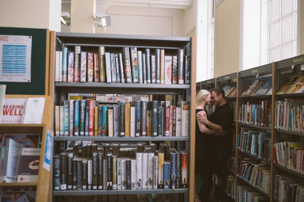 Engagement shoot in Middlesbrough Reference Library