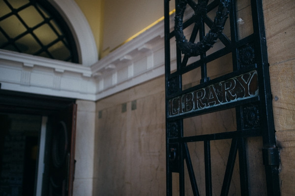 Middlesbrough Reference Library gate