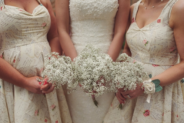 Gypsophila bridal bouquets