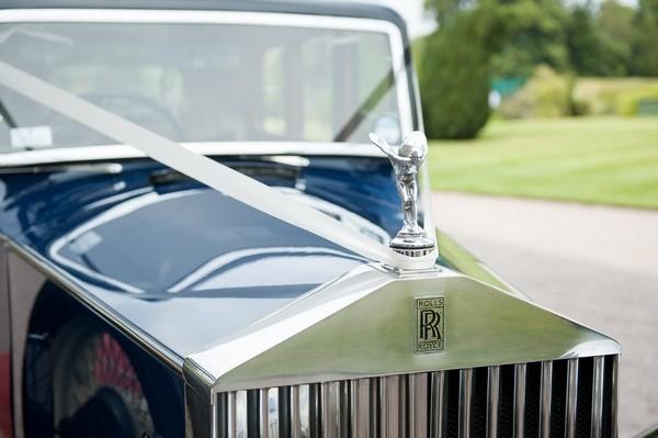 Front of Rolls Royce wedding car