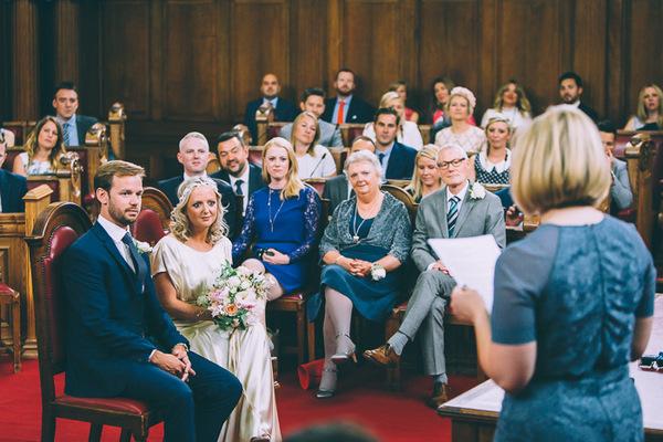 Reading at Islington Town Hall wedding