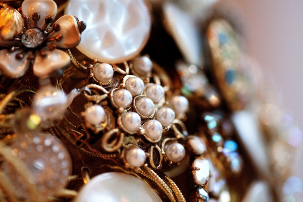 Brooch bouquet close-up