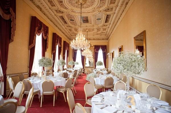 Elegant wedding tables in Moor Park Mansion