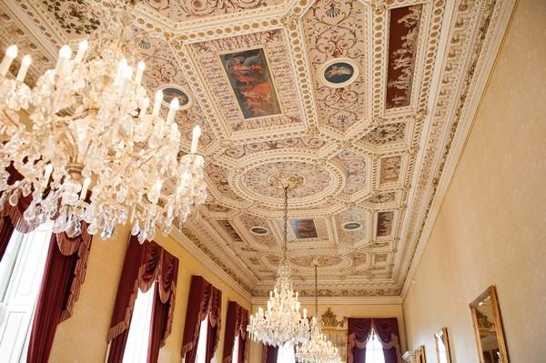 Elegant ceiling of Moor Park Mansion