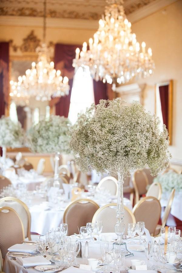 Gypsophila wedding table flowers