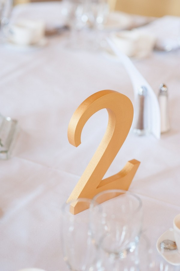 Tw wedding table number