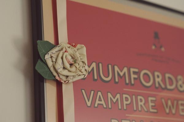 Fabric rose buttonhole
