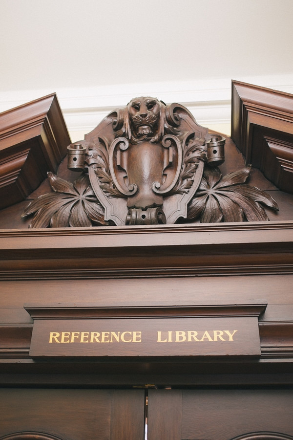 Middlesbrough Reference Library sign