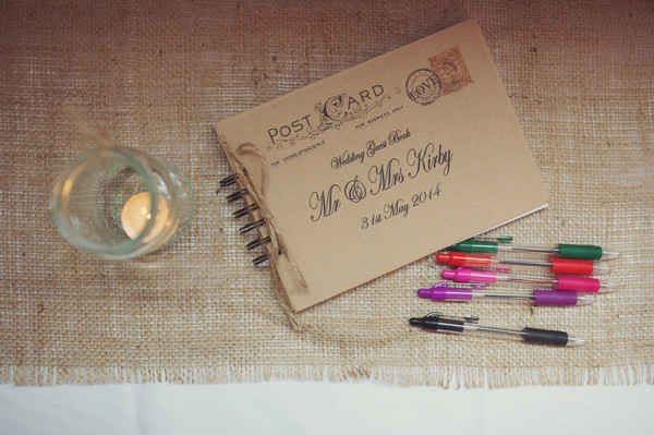Vintage style wedding guest book