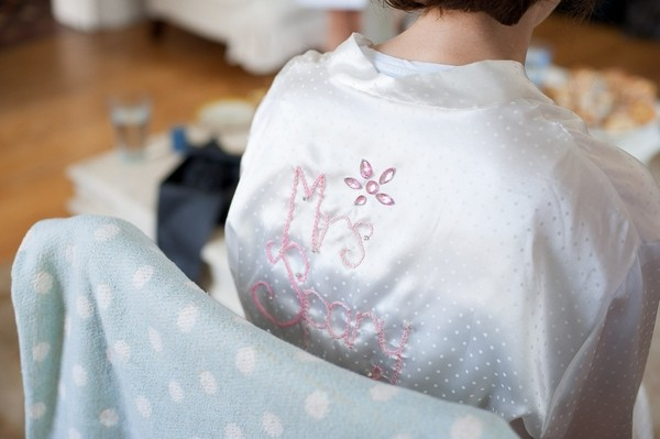 Personalised wedding dressing gown